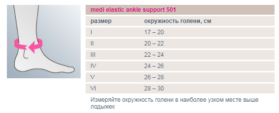Бандаж для голеностопного сустава ankle support